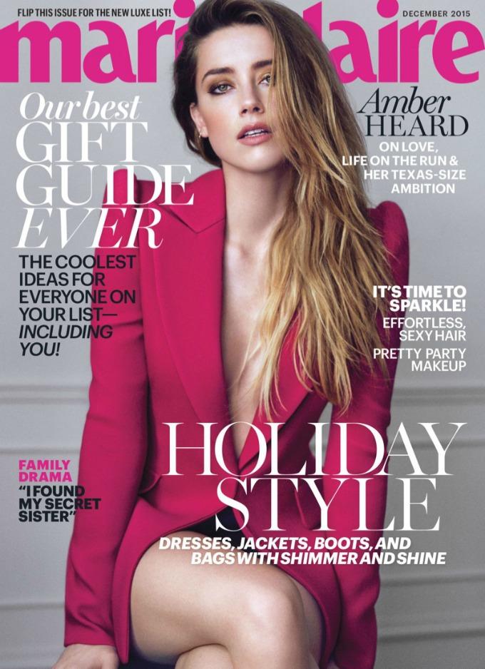 amber herd marie claire 1 Zanosna Amber Herd na naslovnici magazina Marie Claire