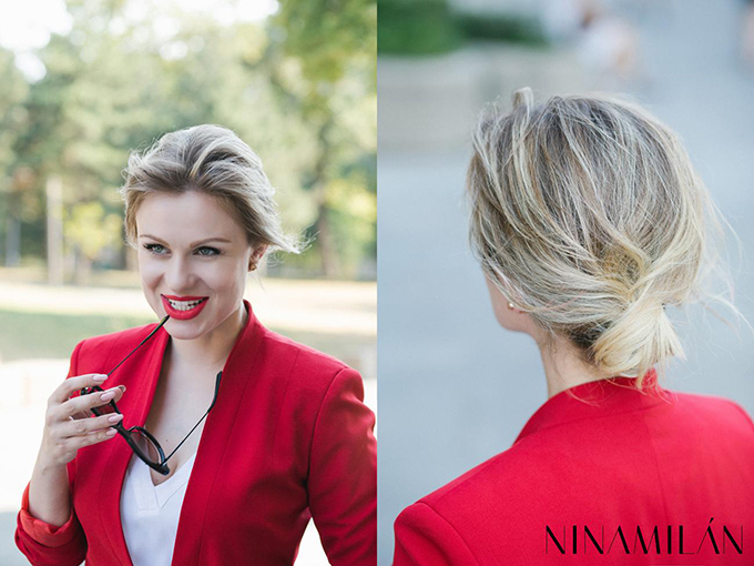 crveni sako must have2 NINAMILAN: Crveni sako i bela bluza su must have