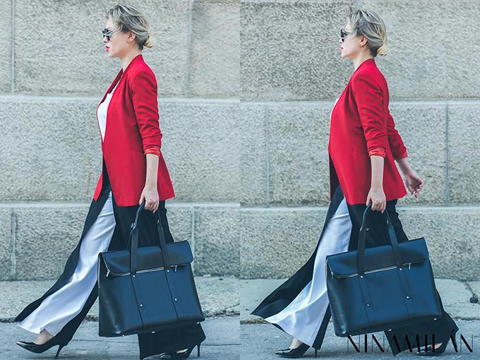 crveni sako must have3 NINAMILAN: Crveni sako i bela bluza su must have