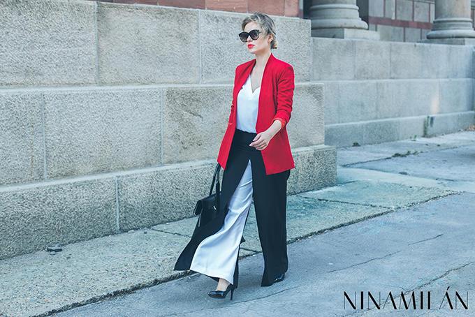 crveni sako must have4 NINAMILAN: Crveni sako i bela bluza su must have