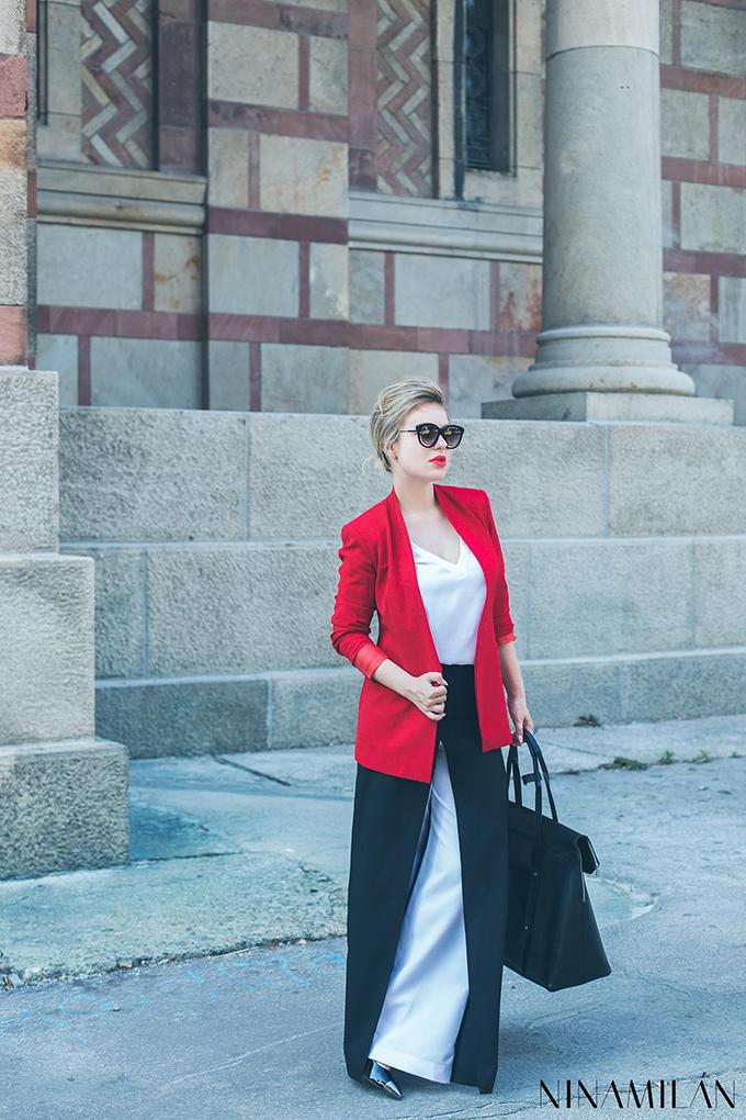crveni sako must have5 NINAMILAN: Crveni sako i bela bluza su must have