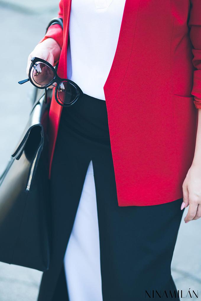 crveni sako must have6 NINAMILAN: Crveni sako i bela bluza su must have