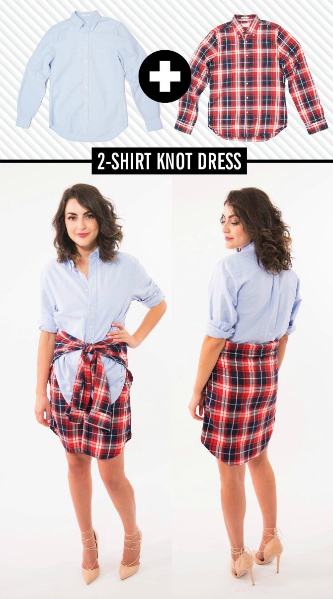 karirana muska kosulja kao suknja 4 načina da od muške košulje napravite suknju i haljinu