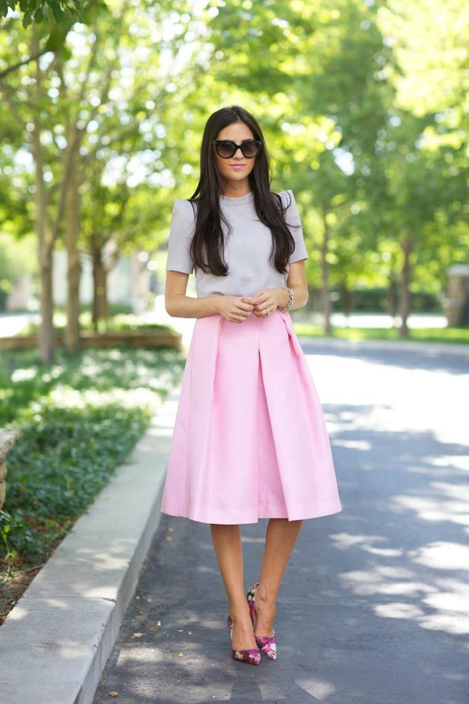 midi suknje 1 Moderne varijante za nošenje midi suknje