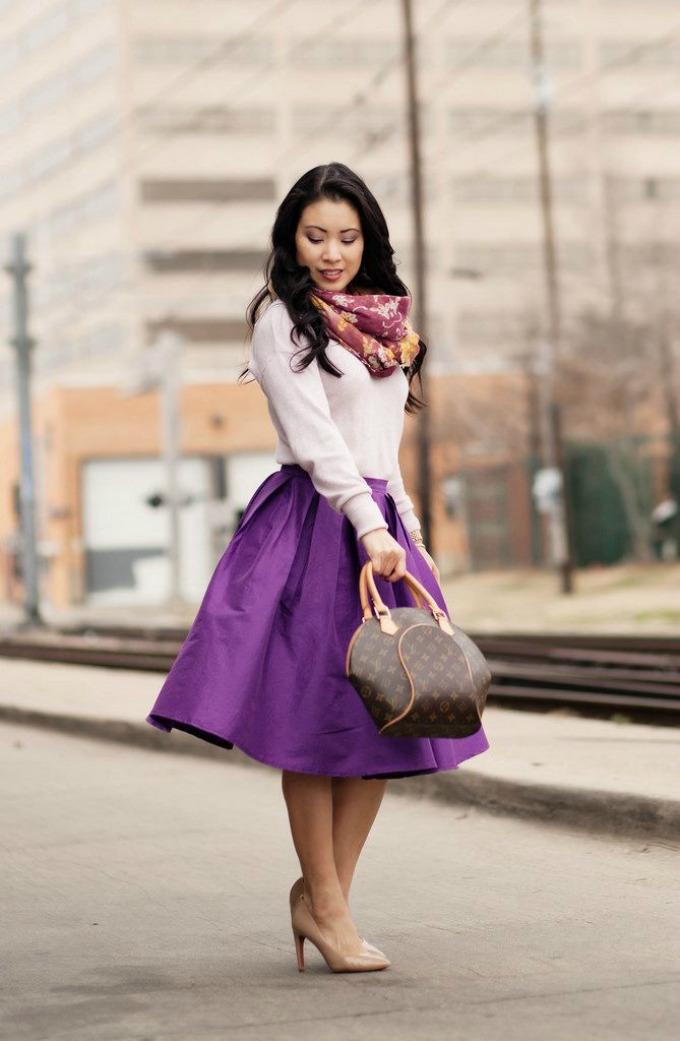 midi suknje 2 Moderne varijante za nošenje midi suknje
