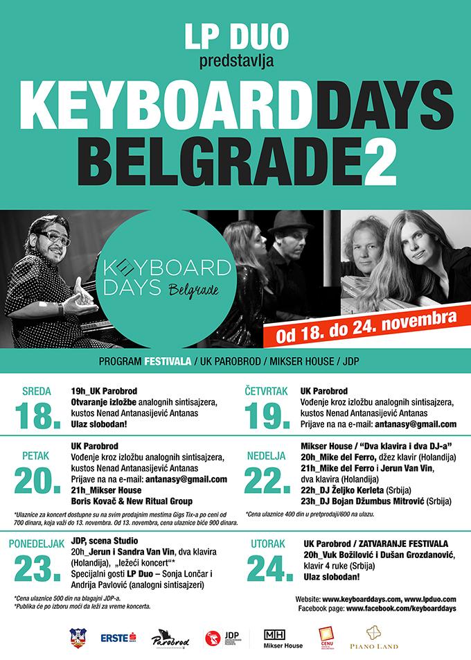 plakat LP Duo predstavlja Keyboard Days Belgrade 2