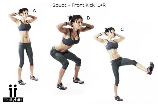 vezba1 Zategnite noge i zadnjicu vežbajući kod kuće bez ikakve opreme