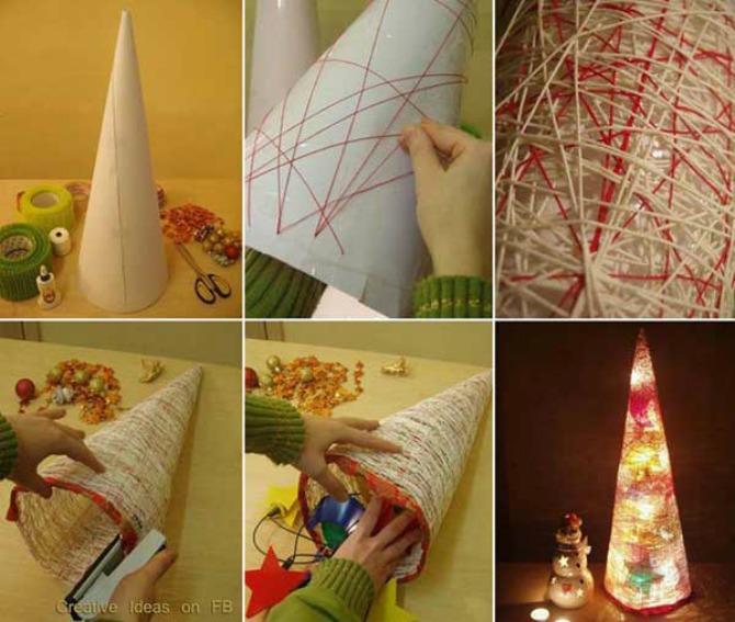 dekoracija Napravite sami najjednostavniju novogodišnju dekoraciju