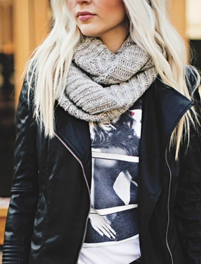 kako da nosite glomazne šalove 4 Kako da nosite glomazne šalove