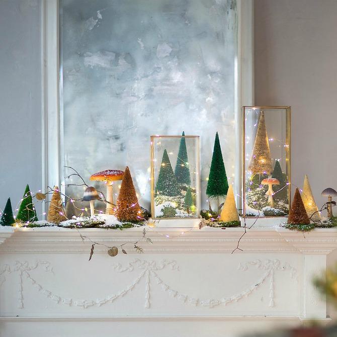 nova godina dekoracija2 Dekorišite dom jelkicama i drvećem koje svetli