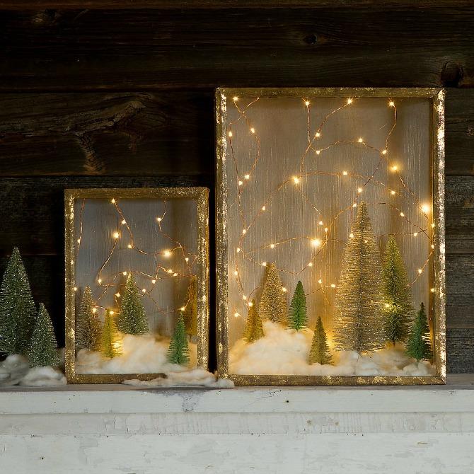 nova godina dekoracija5 Dekorišite dom jelkicama i drvećem koje svetli