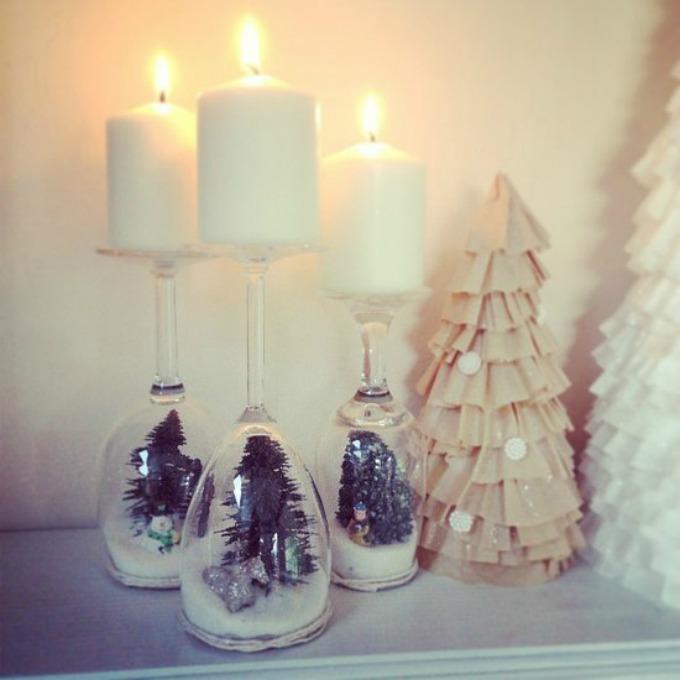 novogodisnja dekoracija od vinskih casa 5 Novogodišnji ukrasi napravljeni od čaša za vino