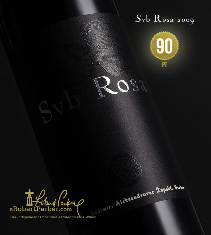 Robert Parker Svb Rosa 2009 Vino Budimir copy web Vino Budimir ponovo dobija visoke ocene od Roberta Parkera