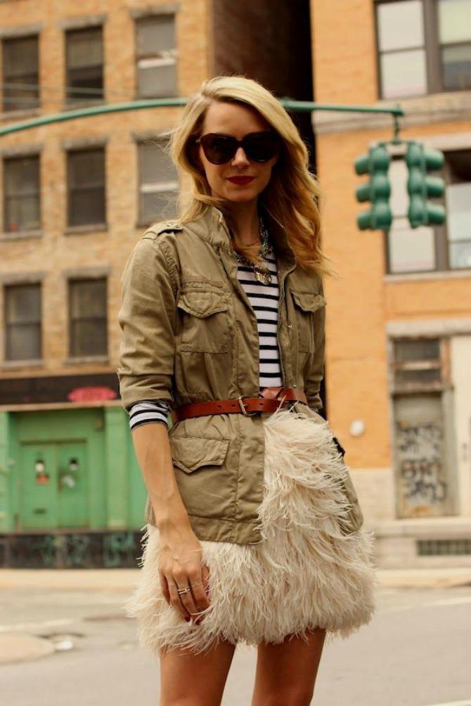 statement skirt in fur Evo kako da nosite KRZNO ove zime