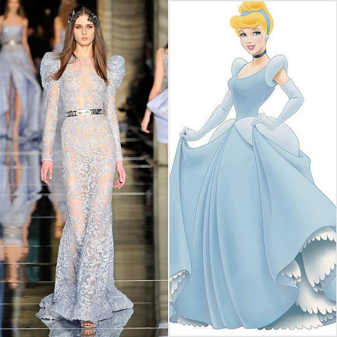 Cinderella Wearing Zuhair Murad Couture Najlepše haljine sa NEDELJE MODE inspirisane Diznijevim princezama
