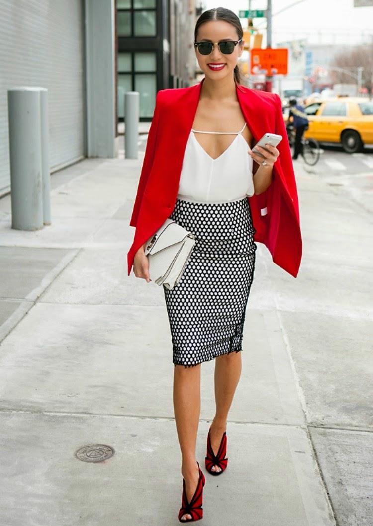 JAMIE CHUNG LOOK BLACK WHITE RED 6 modela suknji koje svaka žena treba da ima