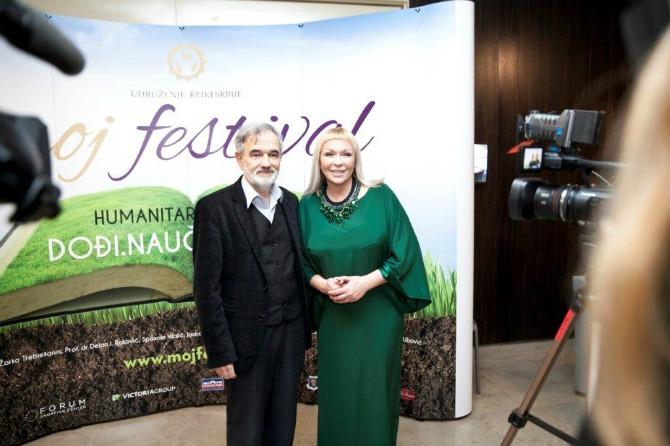Zarko Trebjesanin i Margarita Milenkovic 2 Humanitarna manifestacija MOJ FESTIVAL nadmašila očekivanja!