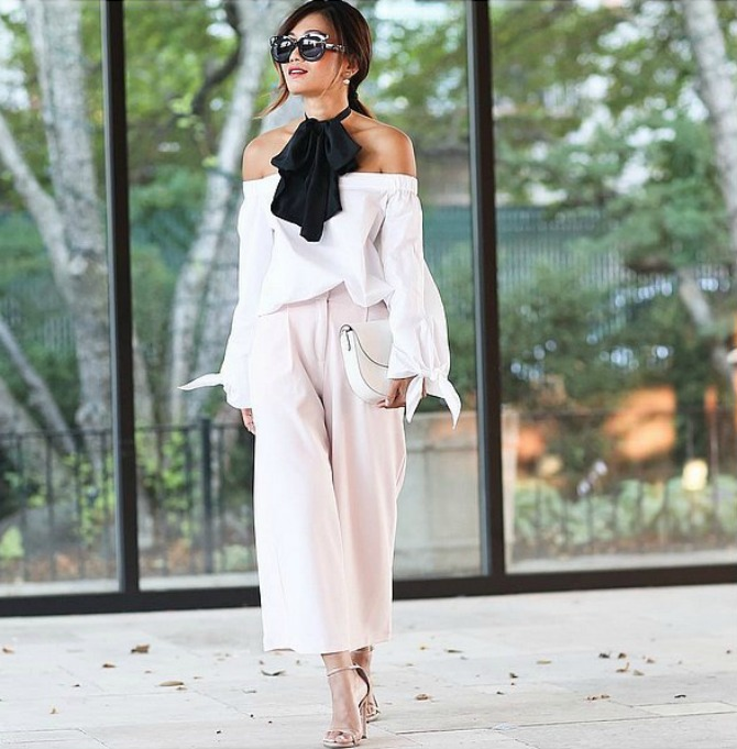 bluza bez ramena Trikovi stila pravih Njujorčanki