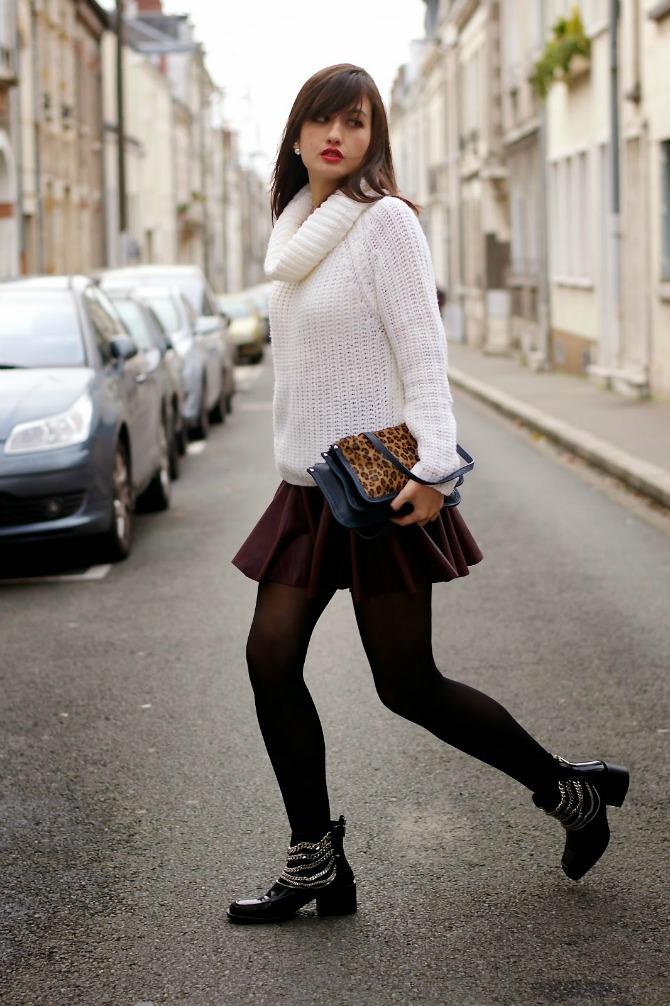 2. parisian outfit with animal print bag Izgledajte ŠIK kao dame sa ulica Pariza
