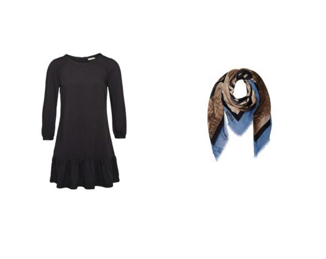 Haljina i marama Budite IZAZOVNE u maloj crnoj haljini