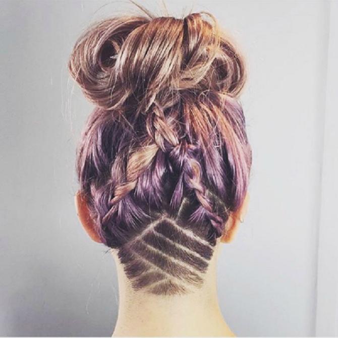 Lila1 Undercut frizure na drugačiji način
