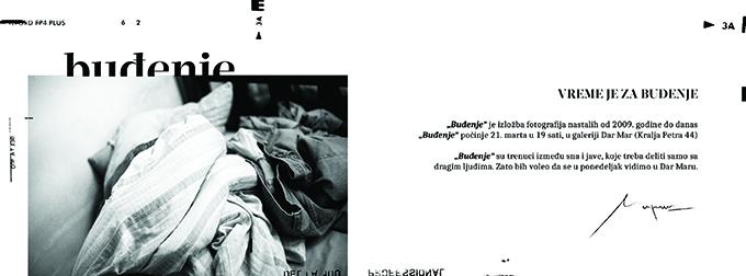 Pozivnica 1 Osma samostalna izložba Nemanje Maraša   Buđenje