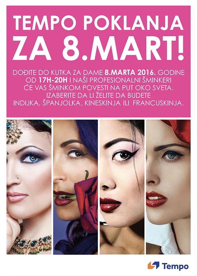 Tempo šminkanje za Dan žena 1 Za Dan žena besplatno profesionalno šminkanje u Tempu