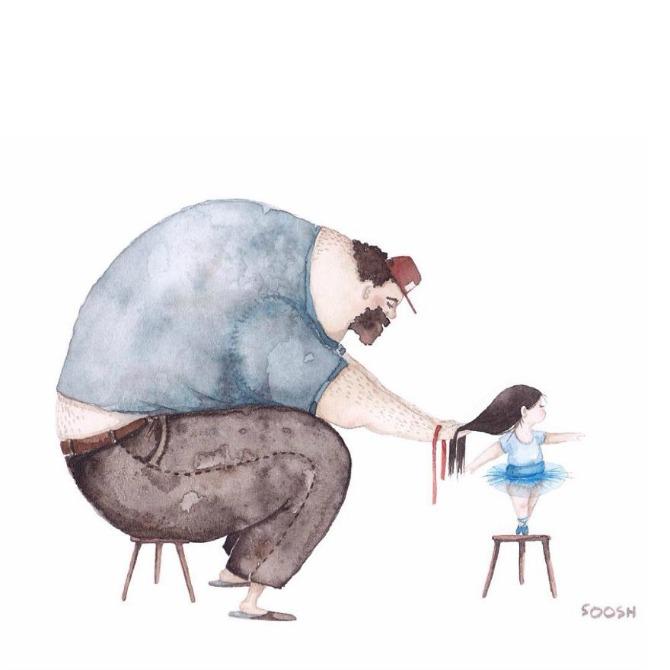 21 Velike tate malih devojčica: Crteži koji će vas istopiti (GALERIJA)