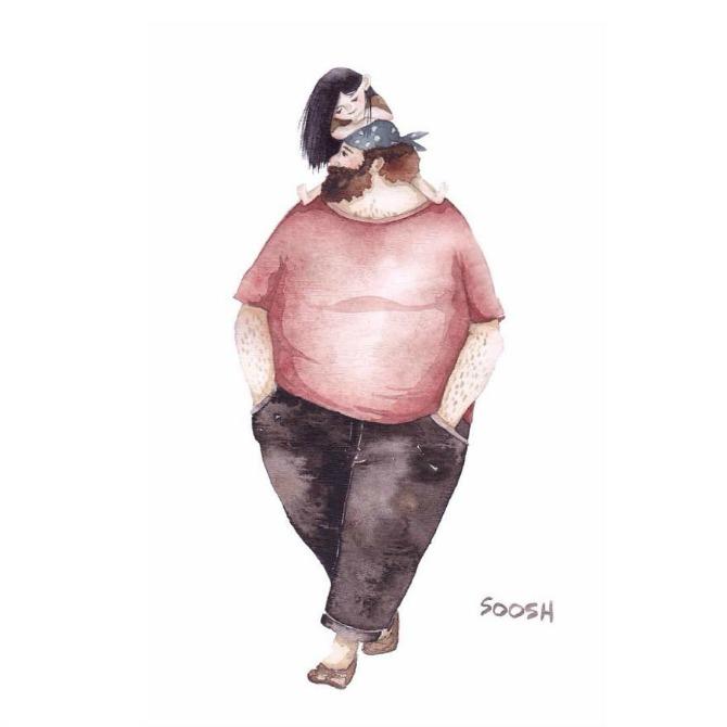 32 Velike tate malih devojčica: Crteži koji će vas istopiti (GALERIJA)