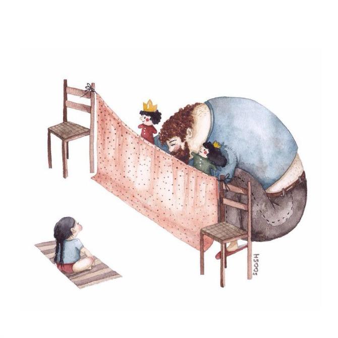 72 Velike tate malih devojčica: Crteži koji će vas istopiti (GALERIJA)