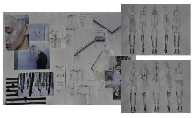Kolekcija belih ko ulja skice Intervju: Katarina Krajnović, studentkinja modnog dizajna na Univerzitetu Metropolitan