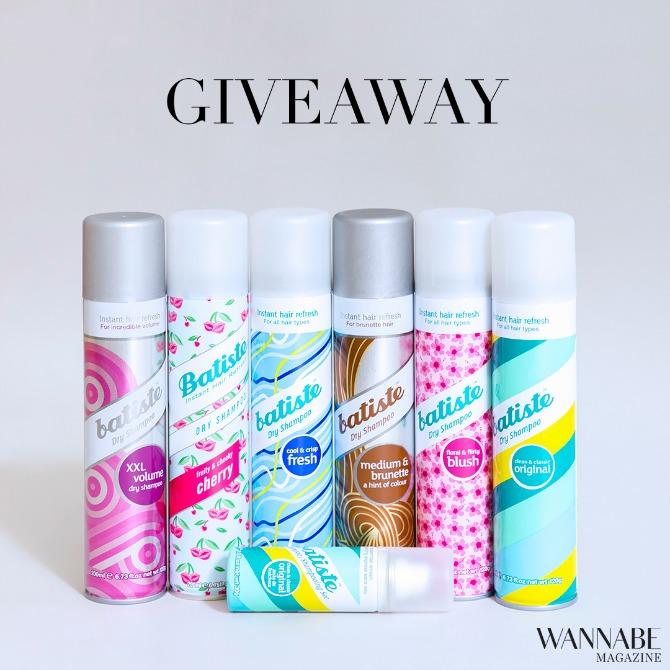 batiste giveaway1 Giveaway: Osvoji SJAJNE Batiste suve šampone!