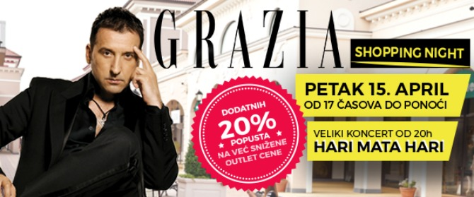 header Grazia Shopping Night u Fashion Parku ovog petka!