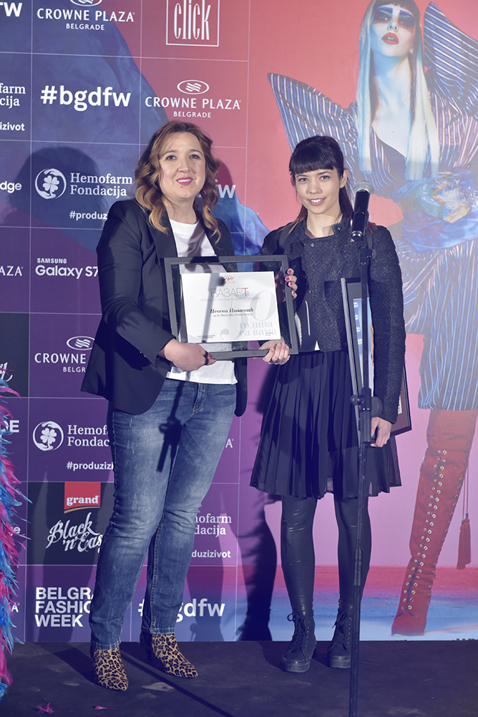 ivana filipovic i nevena ivanovic Dodelom nagrada zatvoren 39. Black n Easy Fashion Week