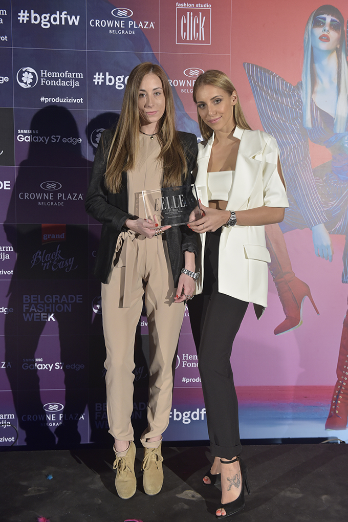 lada dragovic i mirjana zuber Dodelom nagrada zatvoren 39. Black n Easy Fashion Week