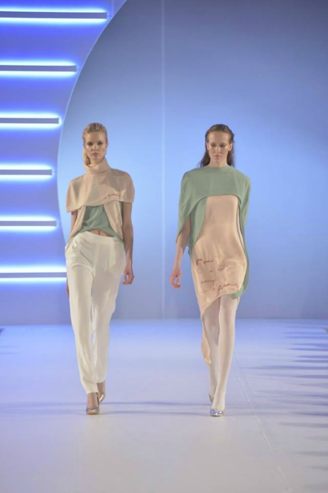 model 1a Studentkinje Modnog dizajna na Belgrade Fashion Week u