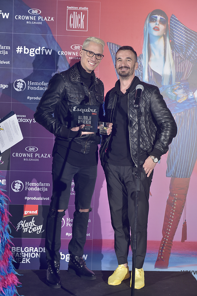 stefan prstojevic i milan nikolic Dodelom nagrada zatvoren 39. Black n Easy Fashion Week
