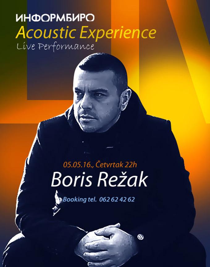 Live Performance Boris Rezak Najbolja ŽIVA svirka u gradu ovog maja
