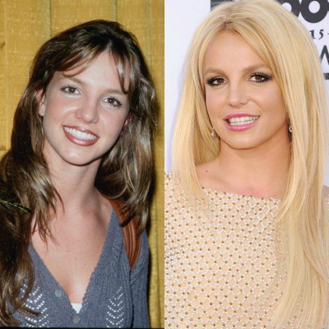 britni spirs1 Da li poznatim lepoticama bolje pristaje prirodna ili farbana boja kose? (GALERIJA)