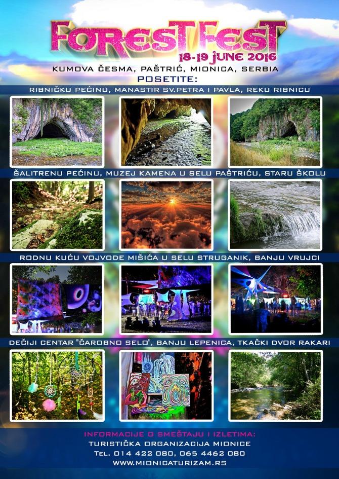 Turistički program Egzibicije sa vatrom, psy trance i body art OVOG vikenda u srpskoj šumi