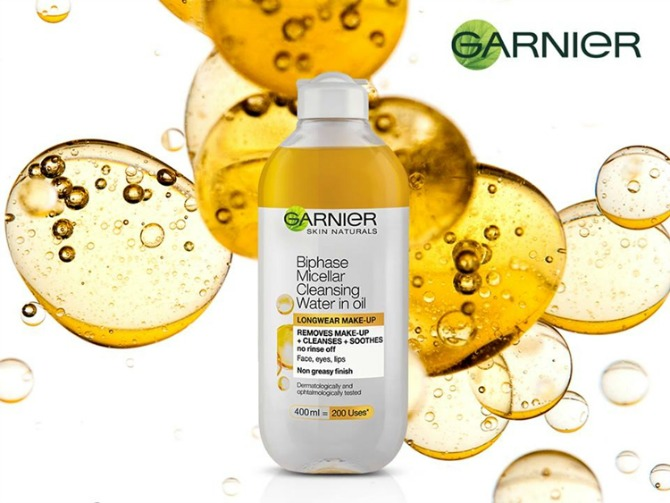 garnier Dvofazna micelarna voda sa uljem učiniće vaše skidanje šminke zadovoljstvom!