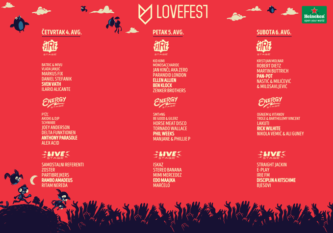 Lovefest 2016 Heineken Lovefest objavio kompletan program rođendanskog izdanja