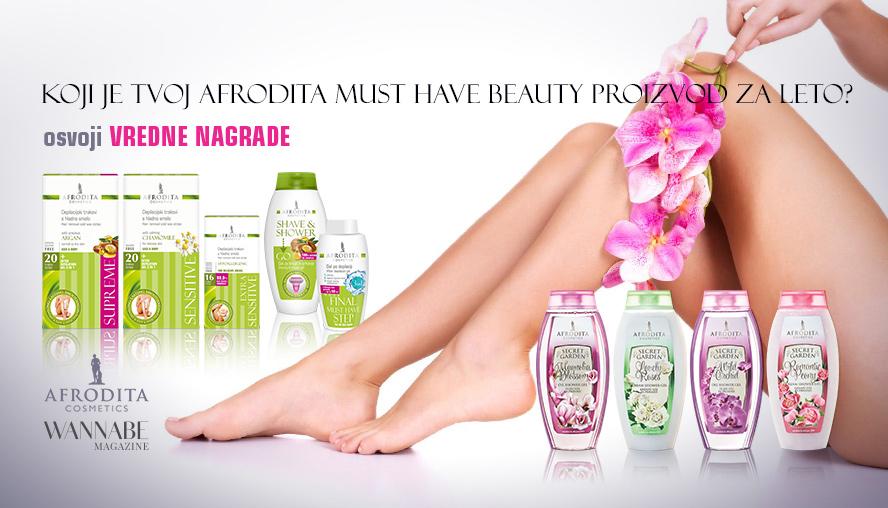 Koji je tvoj Afrodita must have beauty proizvod za leto?