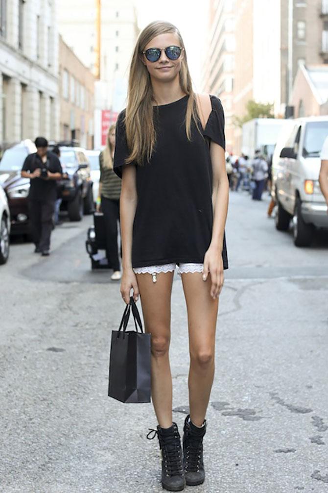 cara delevigne s lace shorts Kako to rade supermodeli: Iskopiraj letnji stil popularnih manekenki!