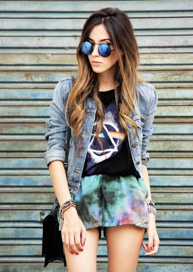 majica natpis 5 super chic načina da kombinuješ teksas jaknu sa suknjama