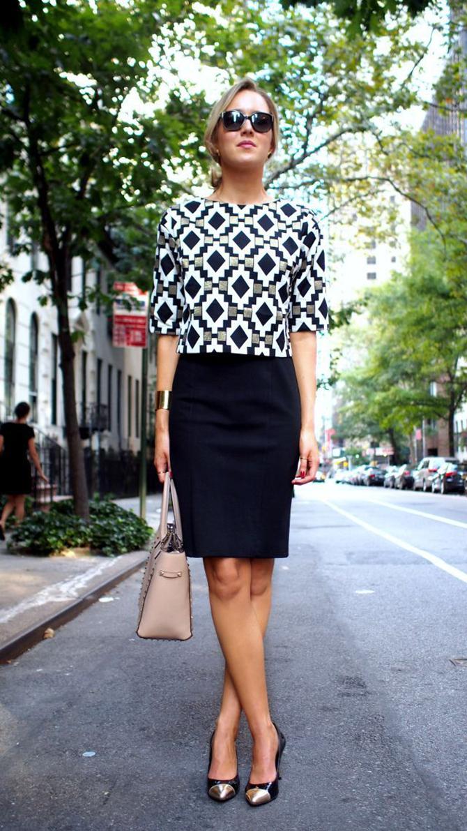 sleeve printed top 5 modnih zapovesti žena koje i poslovnu odeću nose sa stilom