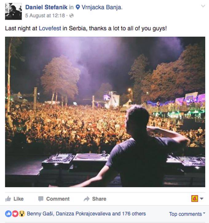 Daniel Stefanik Lovefest 2016 Pogledajte: Šta su SVETSKE zvezde rekle o Heineken Lovefestu