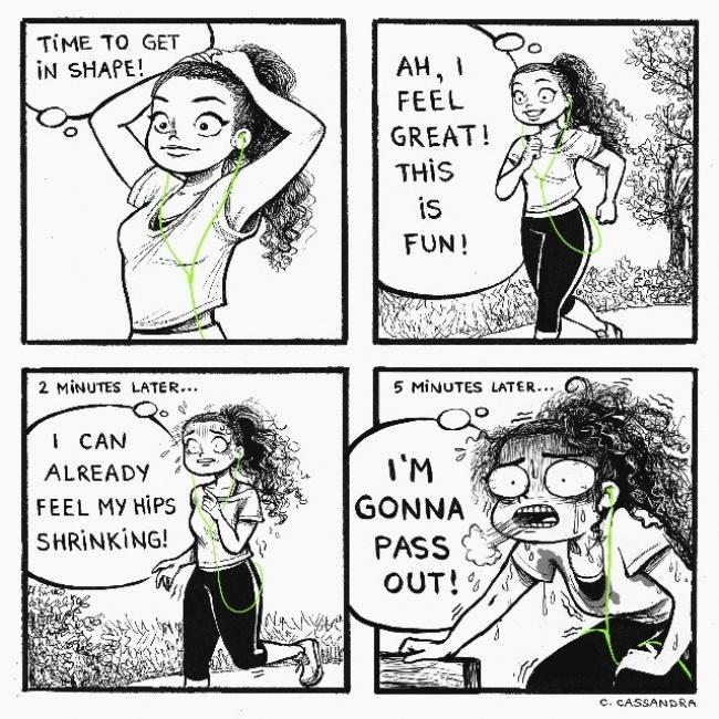 ilustracije 6 Šašave ilustracije koje će svaka devojka razumeti