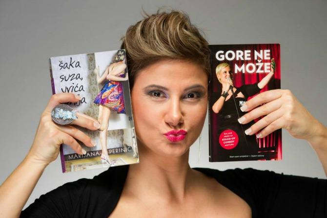 Knjige Gore ne može i Šaka suza vrića smija Intervju: Marijana Perinić, pisac, komičarka i voditelj
