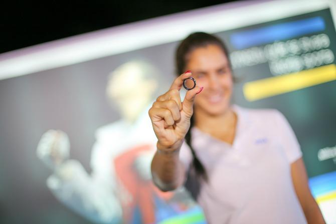 Visa payment ring  Visa i Milica Mandić svečano proslavili završetak Rio 2016 Olimpijske kampanje